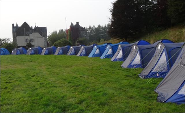 Campen in Schottland