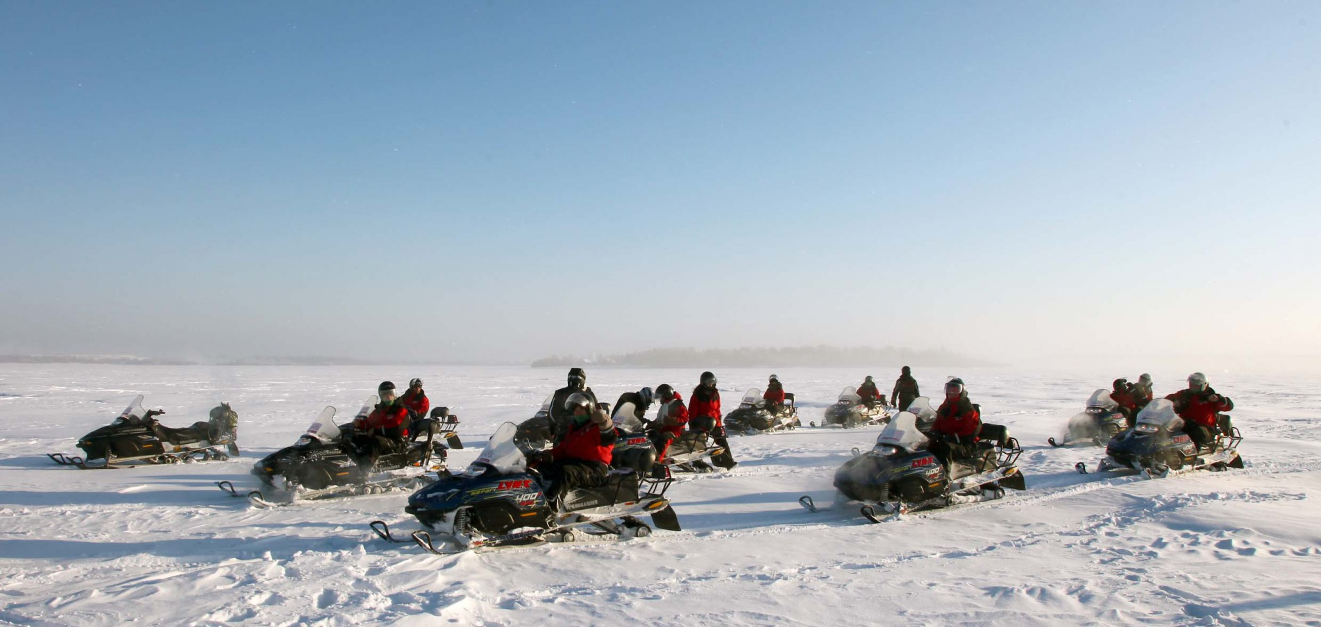 Schneemobil fahren Der Hohe Norden hat viel zu bieten